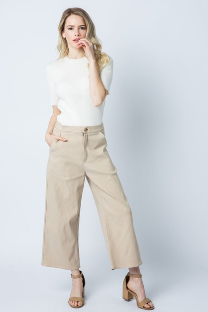 WIDE LEG TROUSER WITH STRAIGHT POCKE - orangeshine.com