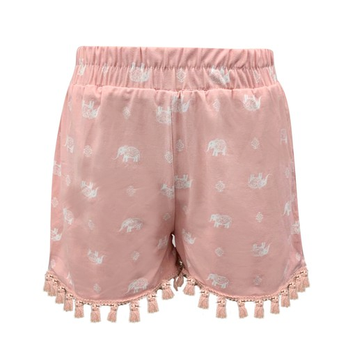 Girls Pink Elephant Shorts Kids Cute - orangeshine.com