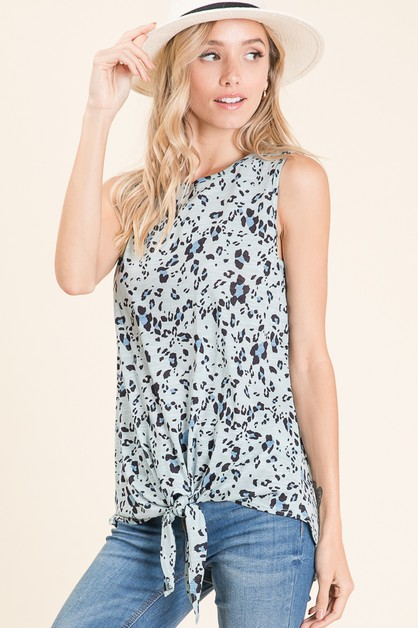 KOSHIBO CASUAL ANIMAL PRINT TANK - orangeshine.com
