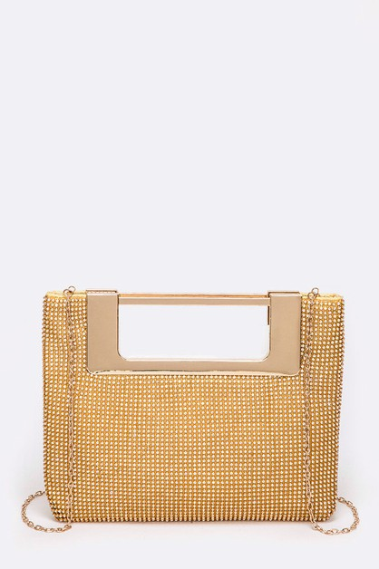 Iconic Top Handle Evening Clutch - orangeshine.com