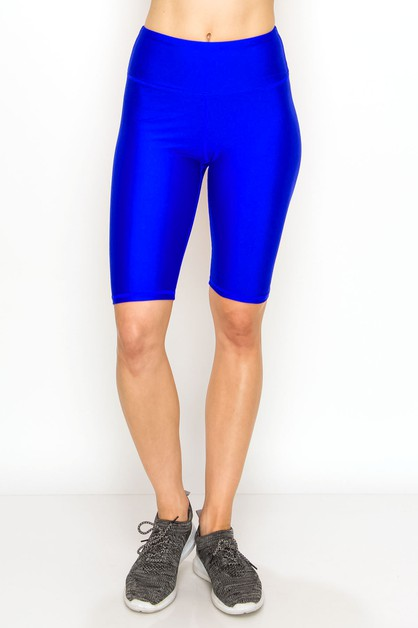 High waist liquid bike shorts - orangeshine.com