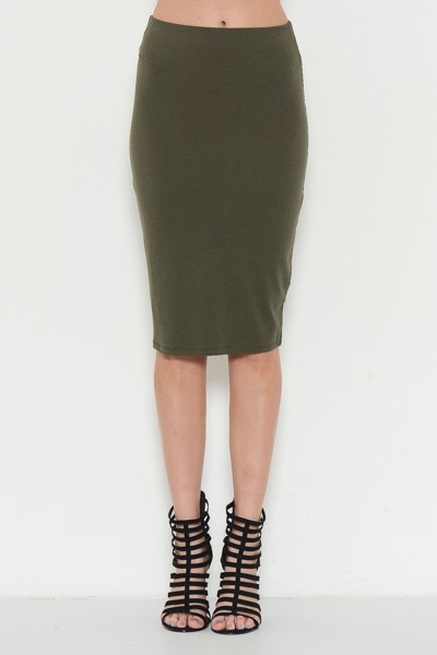 BASIC MIDI SKIRT  - orangeshine.com