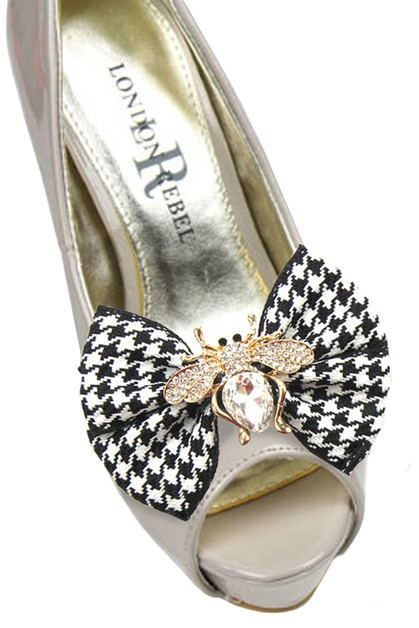 Fashion Bow Bee Clip Shoe Accessory - orangeshine.com