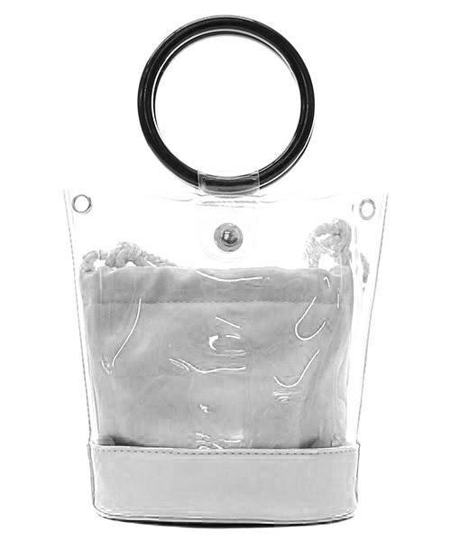 Round Handle 2 in 1 Clear Satchel - orangeshine.com