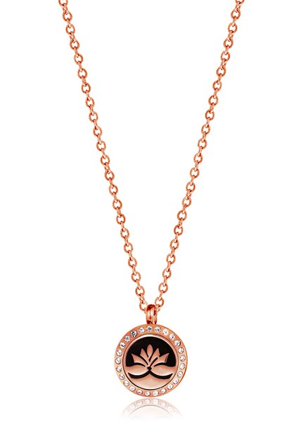 MINI ROSE GOLD LOTUS NECKLACE - orangeshine.com