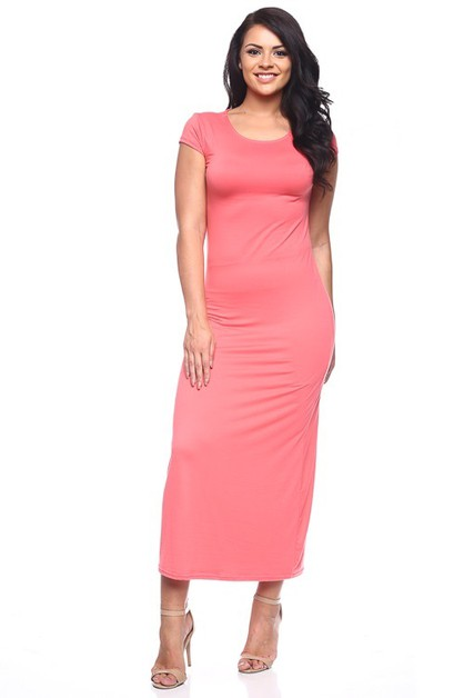Plus Size Long Dress - orangeshine.com