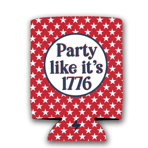 Party like its 1776 Koozie - orangeshine.com