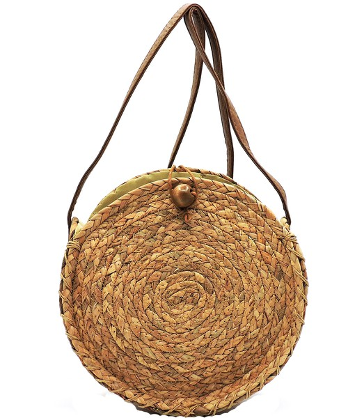 Straw Round Crossbody Bag - orangeshine.com
