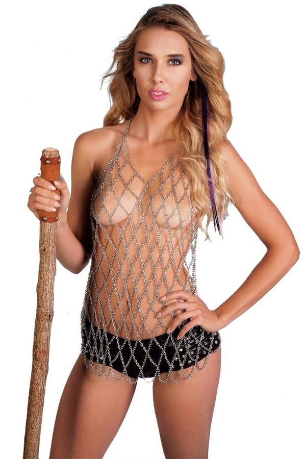 Chainmail Halter Top - orangeshine.com