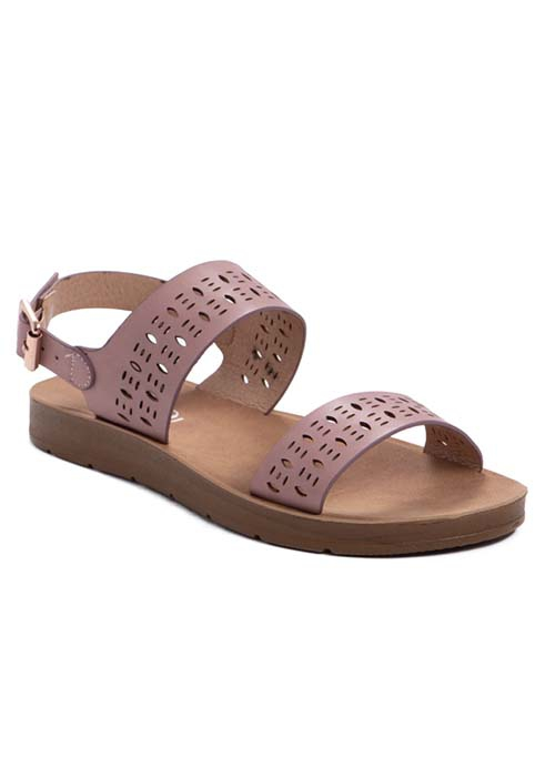 PERFORATED OPEN SANDAL WITH BUCKLE S - orangeshine.com