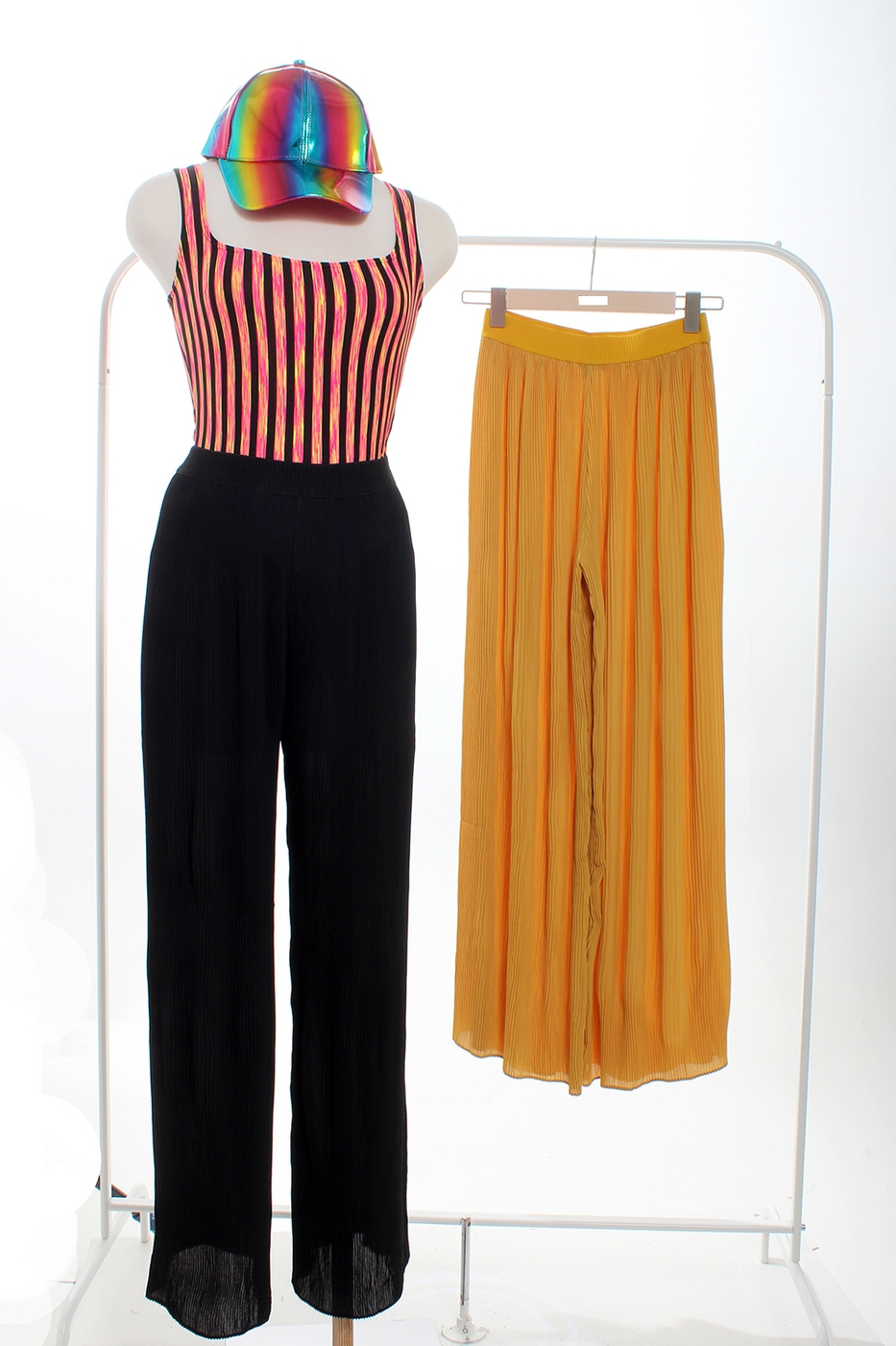 PLEATED MIDI PANTS - orangeshine.com