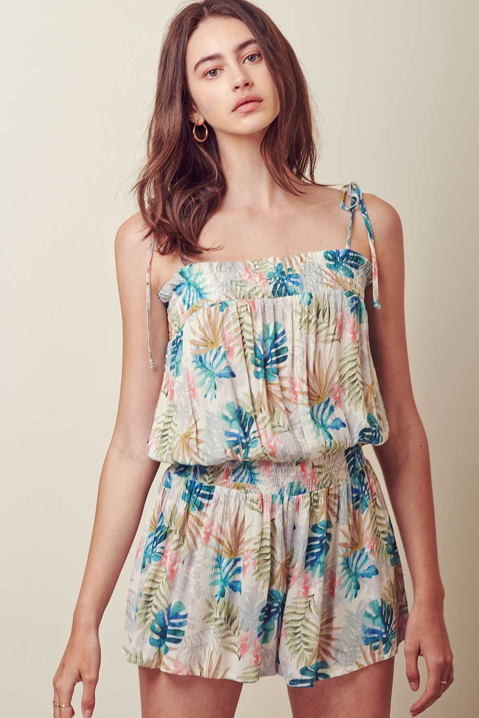 CROPPED TROPICAL ROMPER - orangeshine.com