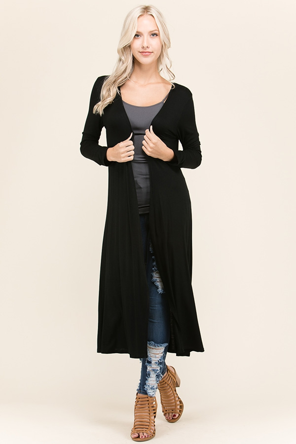 LONG SLEEVE LONG CARDIGAN - orangeshine.com