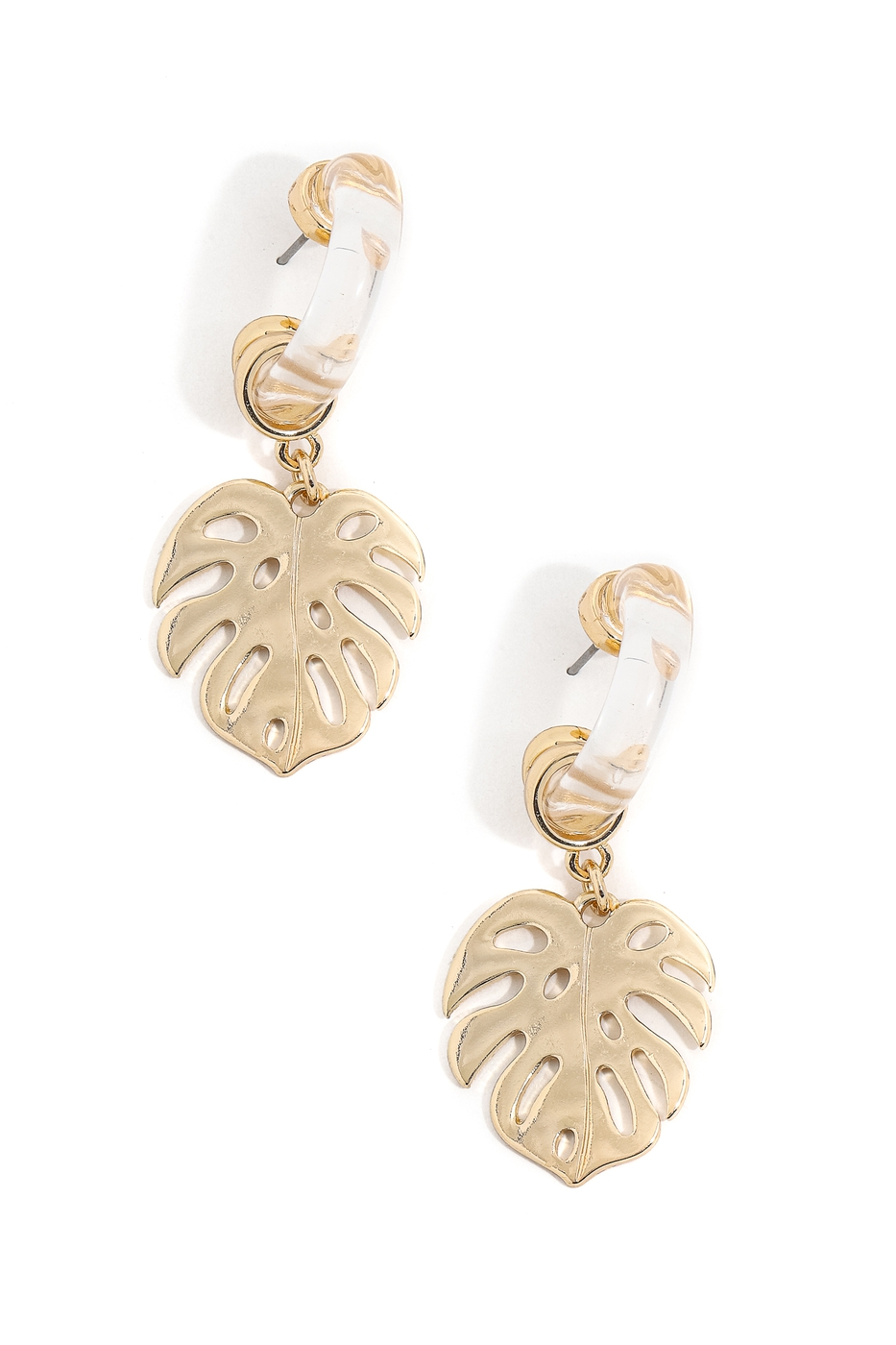 Monstera CharmHoop Earrings - orangeshine.com