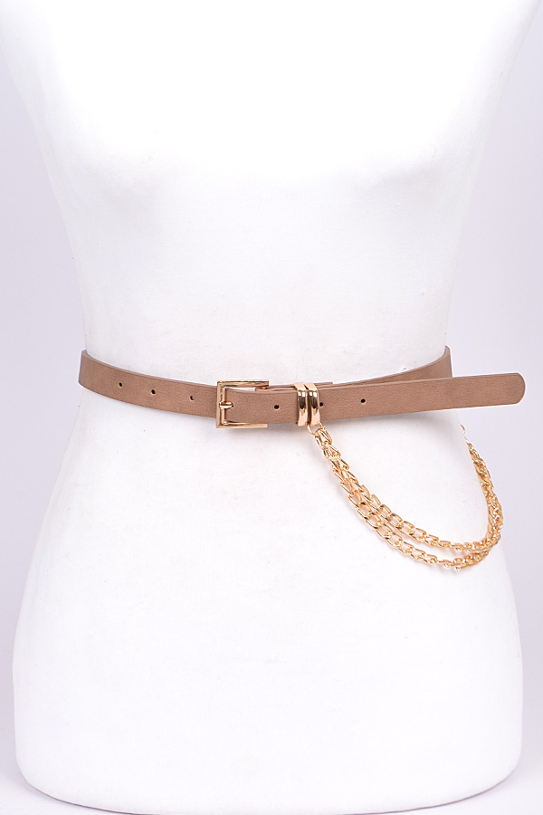 THIN BELT WITH SIDE CHAIN  - orangeshine.com