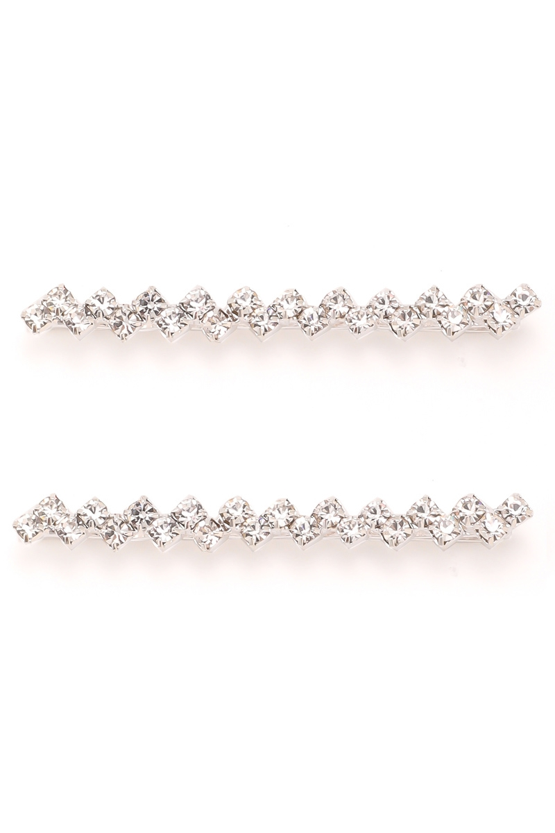 Zig Zag Rhinestone Hair Pin Set - orangeshine.com
