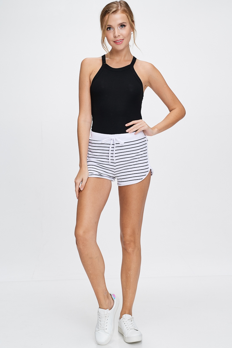 STRIPED SHORTS - orangeshine.com