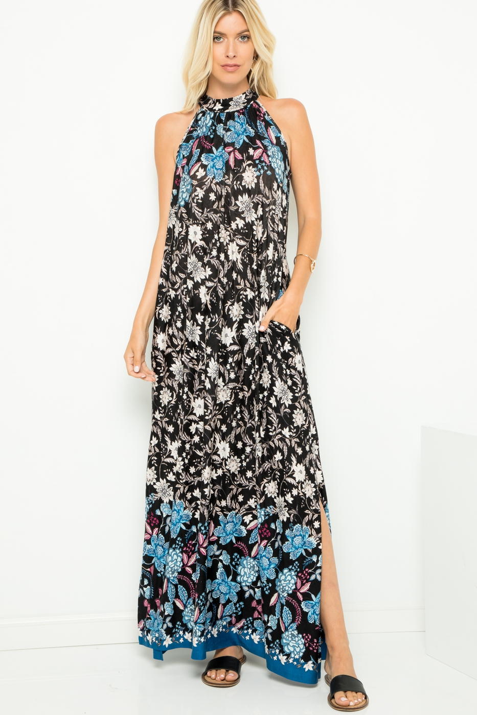 Floral Maxi Long Dress - orangeshine.com