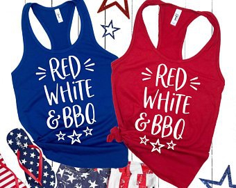 JULY 4TH TANK TOP  - orangeshine.com