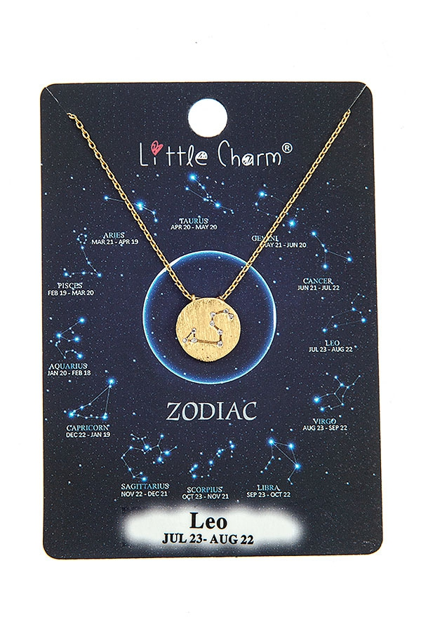 LEO ZODIAC PENDANT NECKLACE  - orangeshine.com
