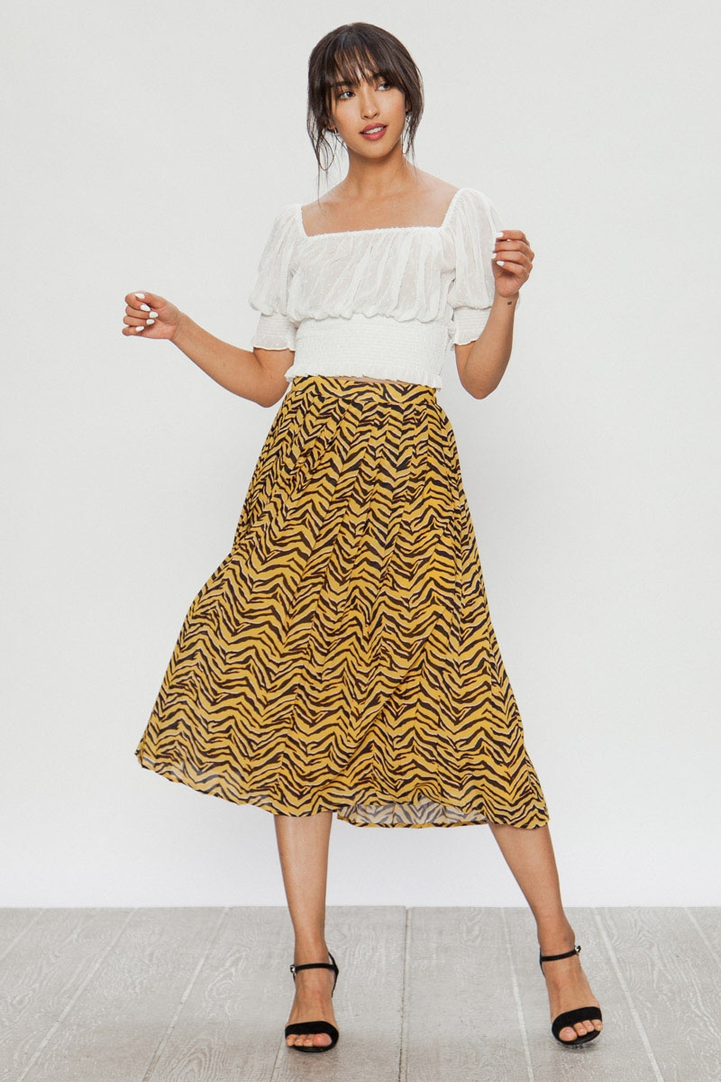 ZEBRA LONG SKIRT - orangeshine.com