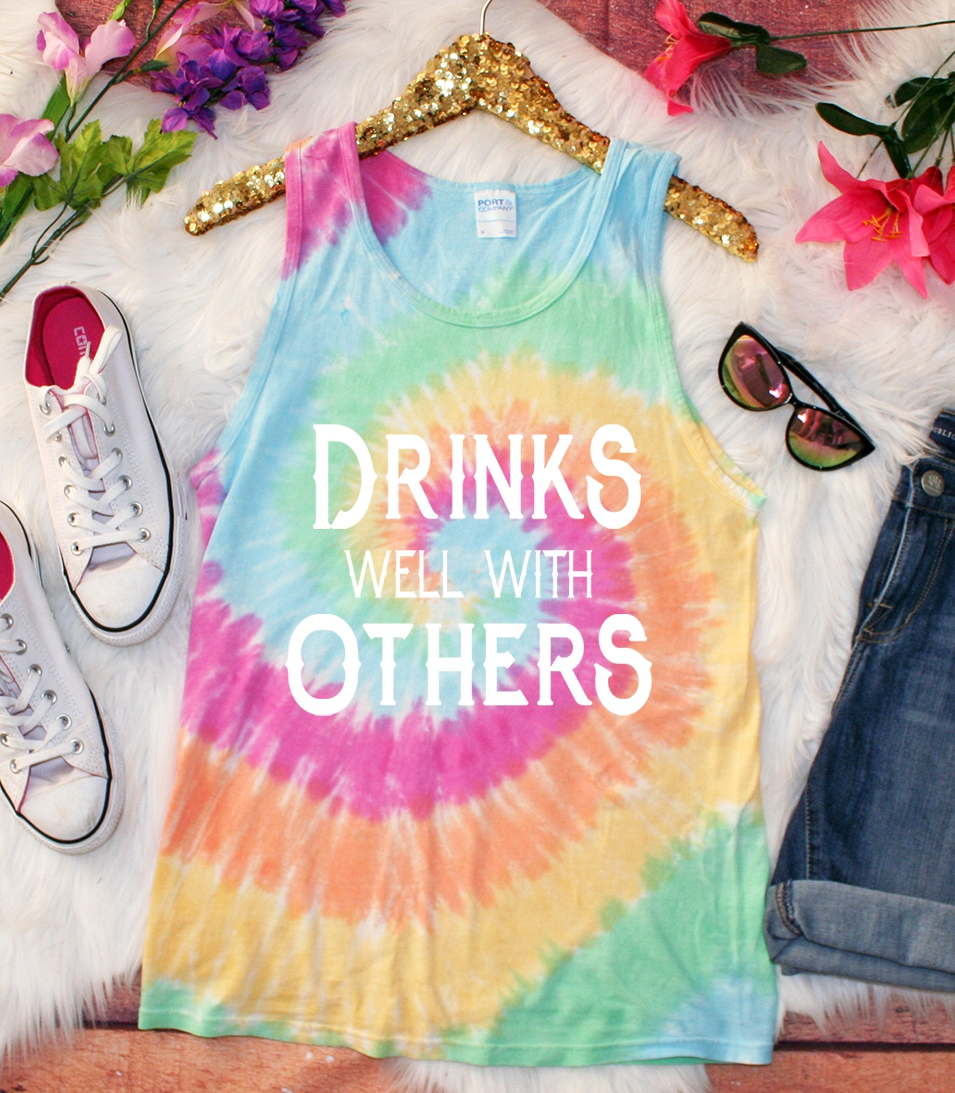 PLUS Drinks Well With Other Tie Dye  - orangeshine.com