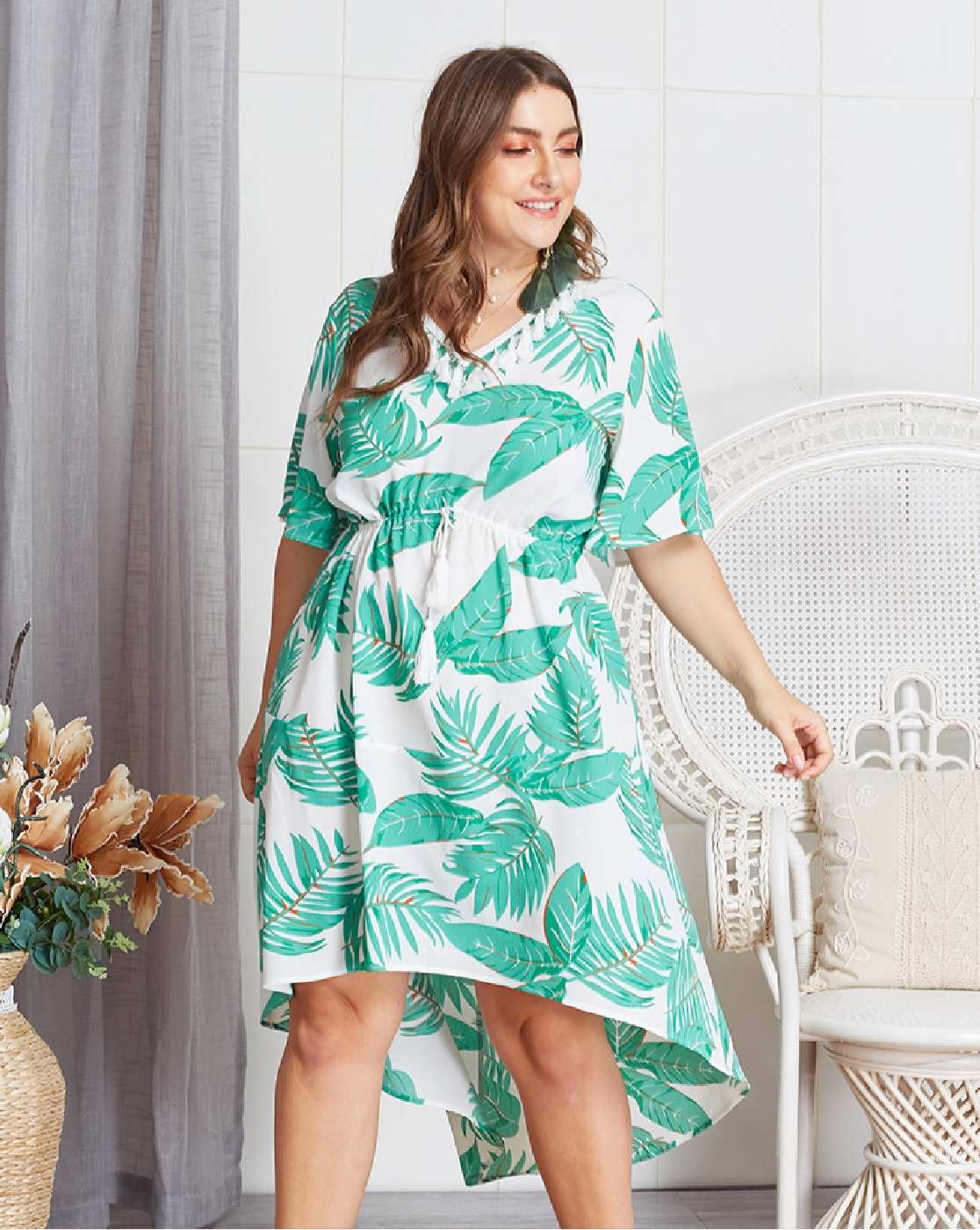 PLUS SIZE SELF BELT DRESSES - orangeshine.com