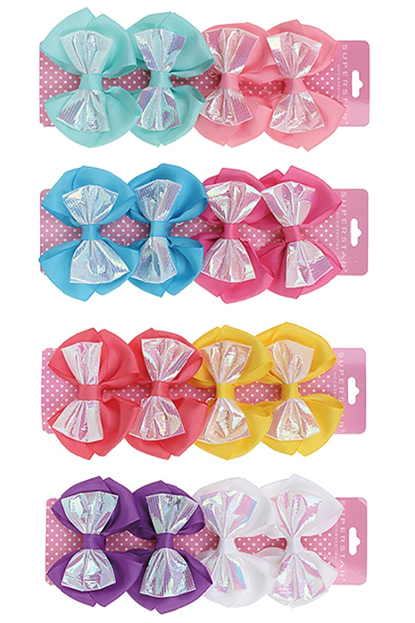 4-pc Alligator Clip Bow Set - orangeshine.com