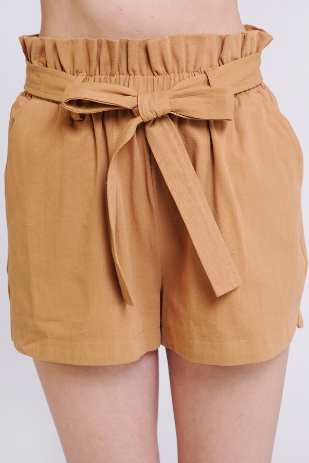 PAPER BAG FRONT TIE SHORT - orangeshine.com