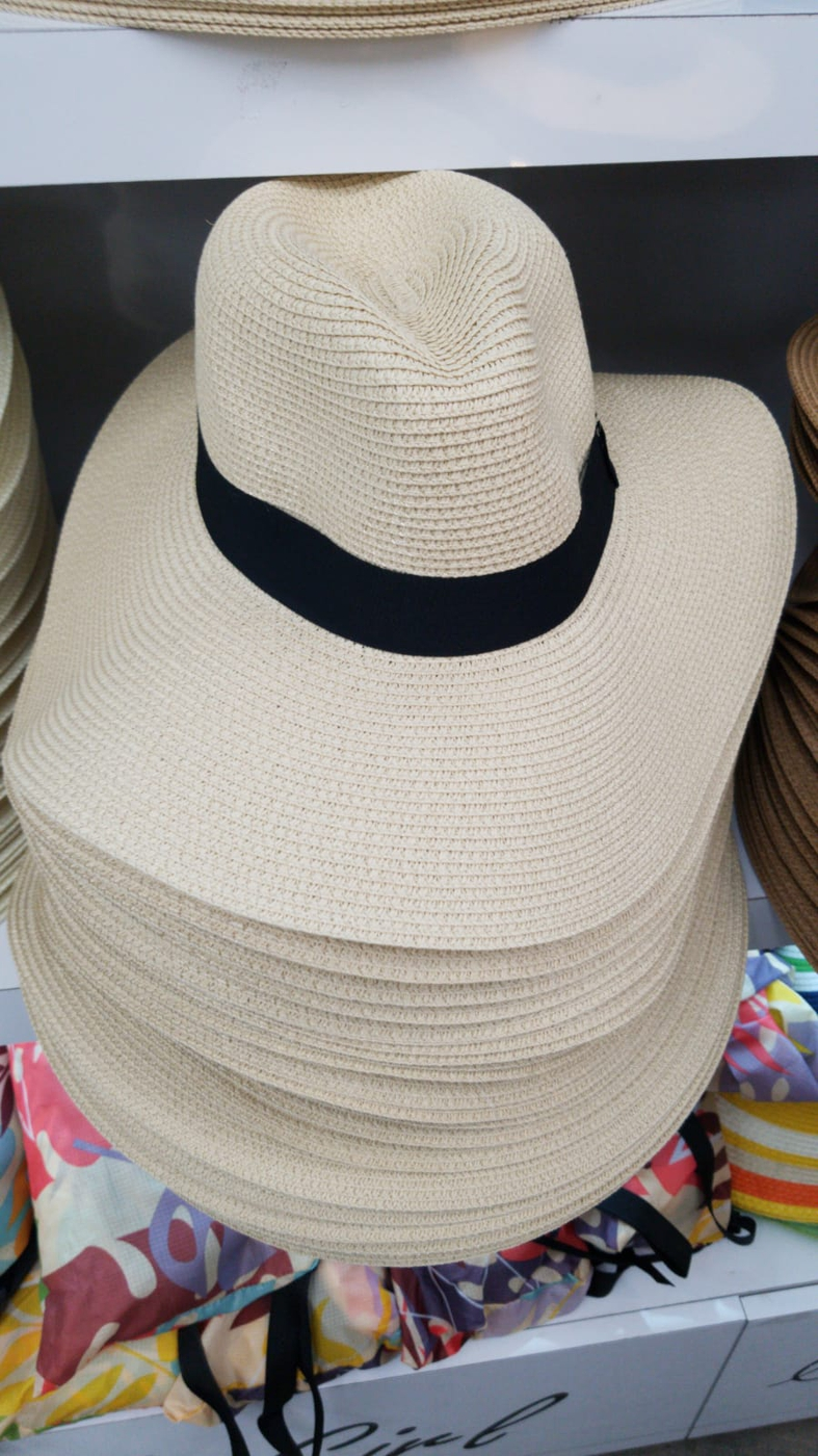 NATURAL WOVEN  STRAW HAT  - orangeshine.com
