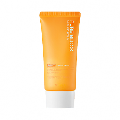 [A`PIEU] Pure Block Daily Sun Cream - orangeshine.com
