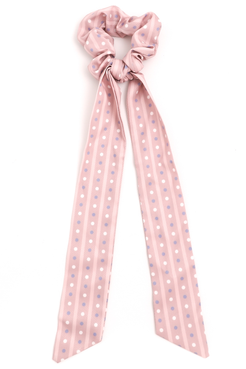 Pink Polka Dot Tail Scrunchie - orangeshine.com