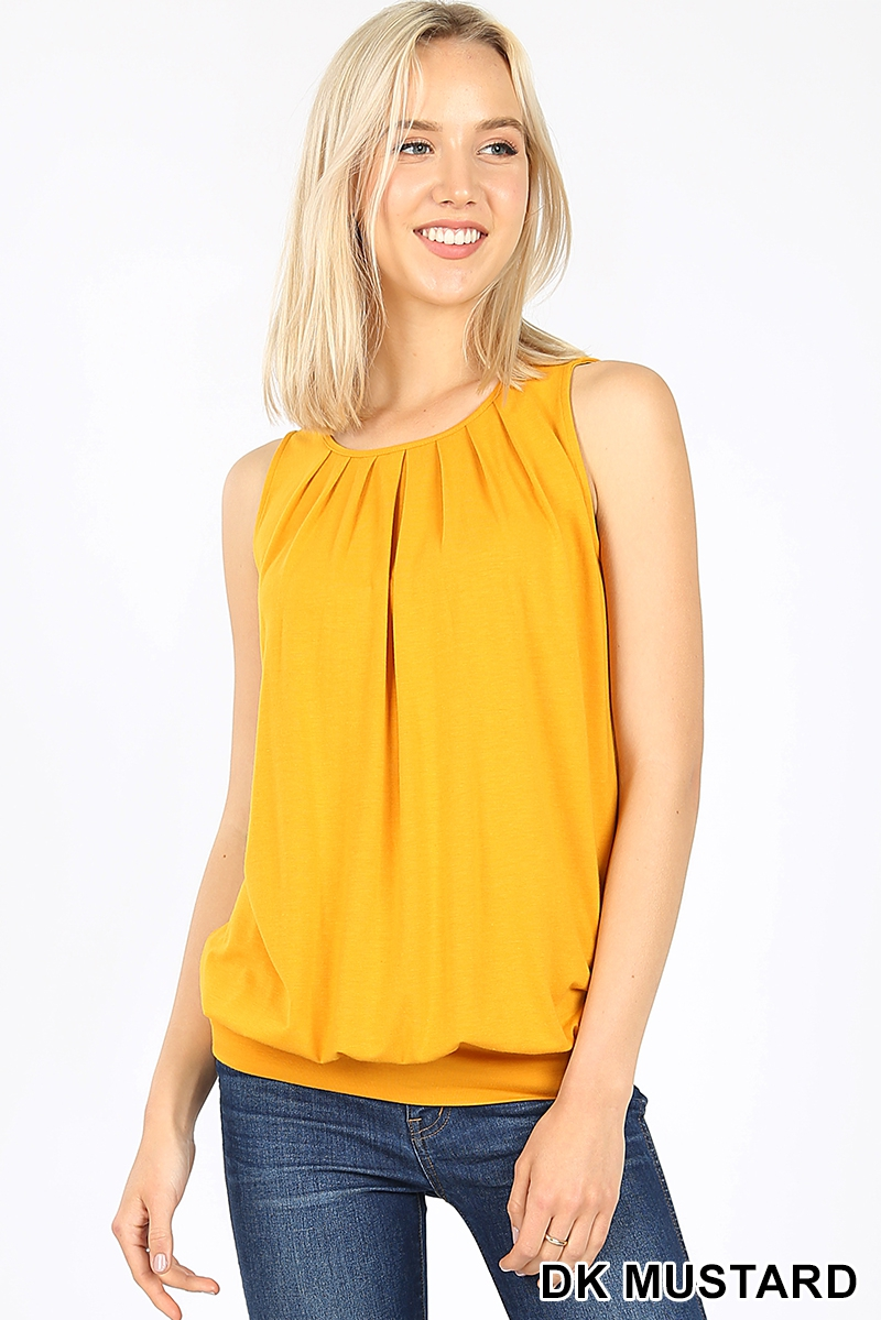 PREMIUM ROUND NECK PLEATED TOP - orangeshine.com