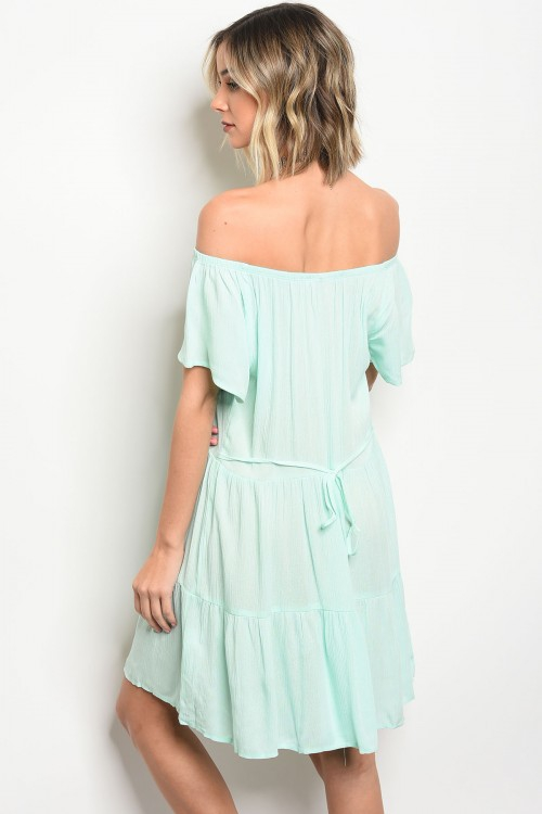 Off the shoulder smock waist dress - orangeshine.com