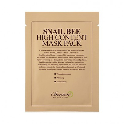 [Benton] SNAIL BEE HIGH CONTENT MASK - orangeshine.com
