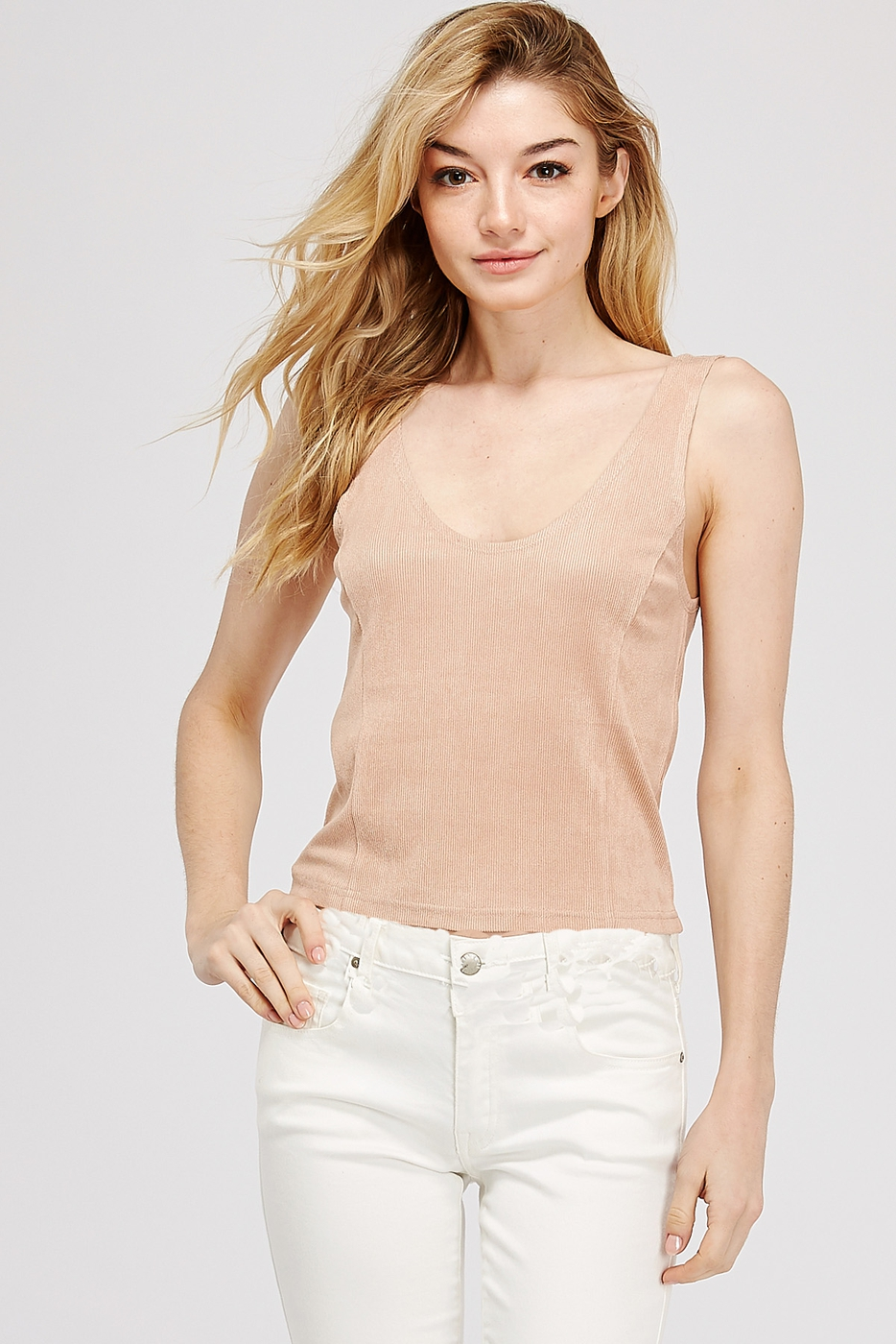 SOFT BRUSHED KNIT TANK - orangeshine.com