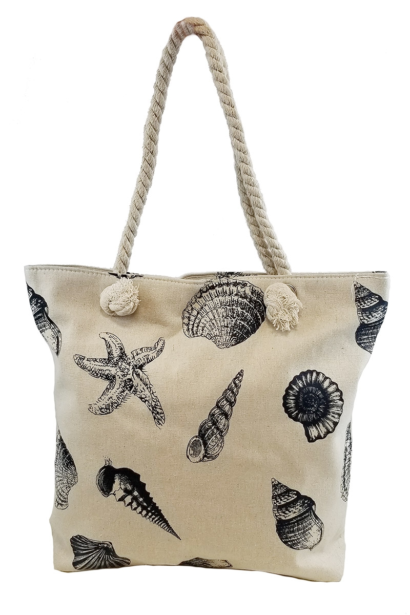 Sea-life Canvas Beach Tote Bag - orangeshine.com