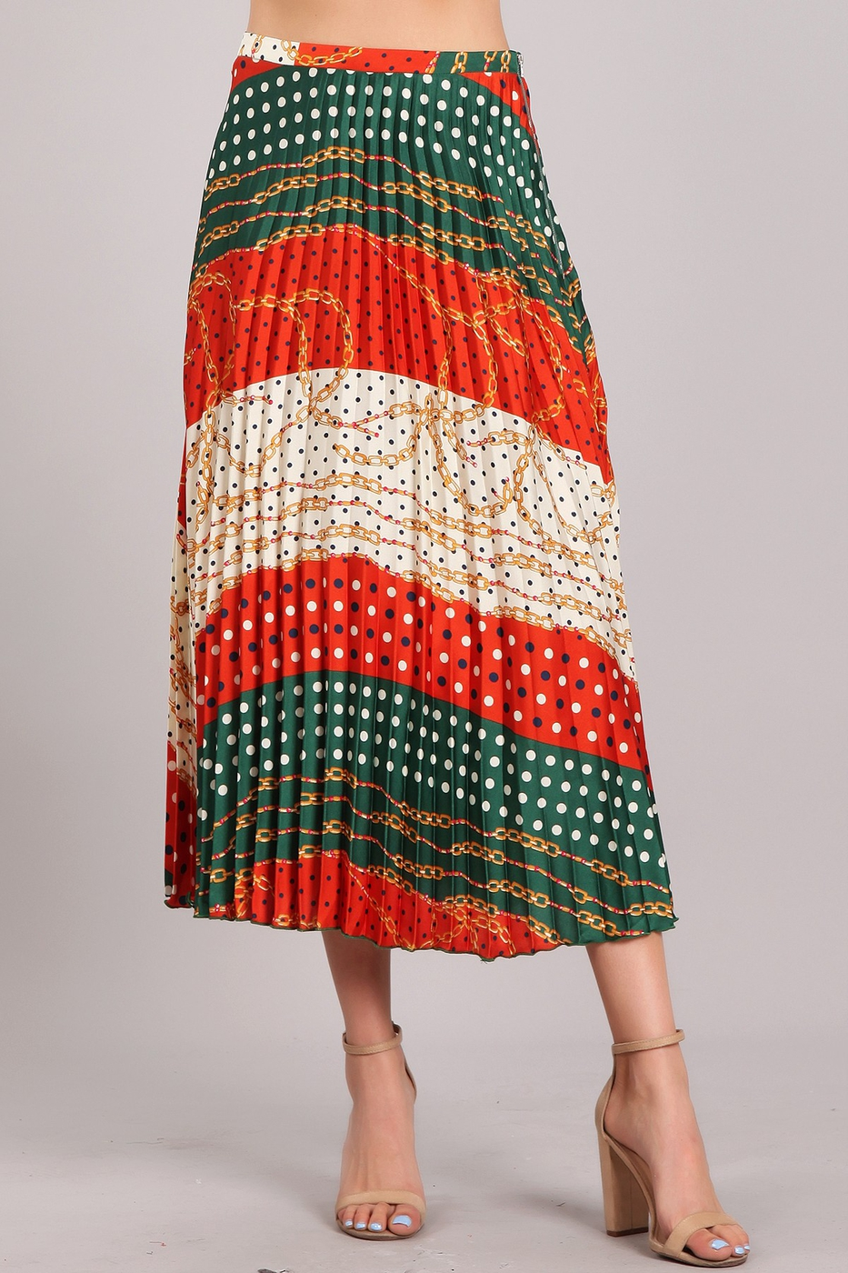 Color Block Skirt - orangeshine.com