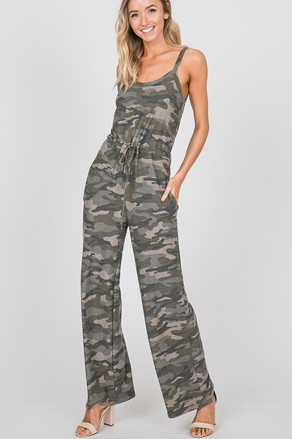 CAMO JUMPSUIT WITH SIDE POCKET - orangeshine.com