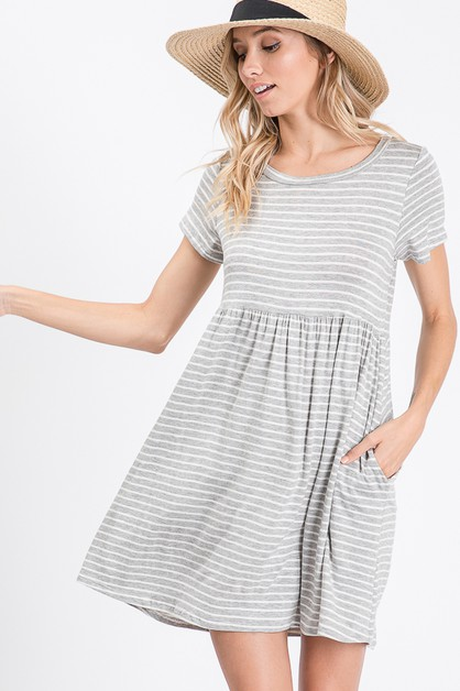 A short sleeve dress - orangeshine.com