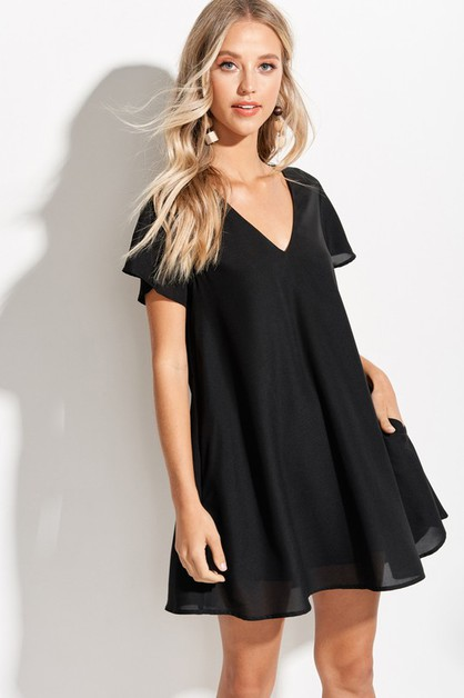 Easy Flowy Mini dress - orangeshine.com