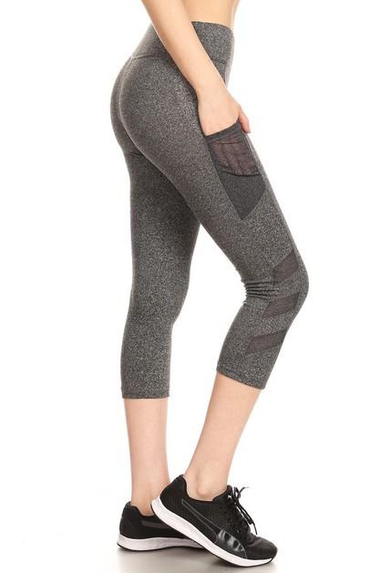 eb57b65b27e20 Mesh Sports Capris Leggings Yoga - orangeshine.com