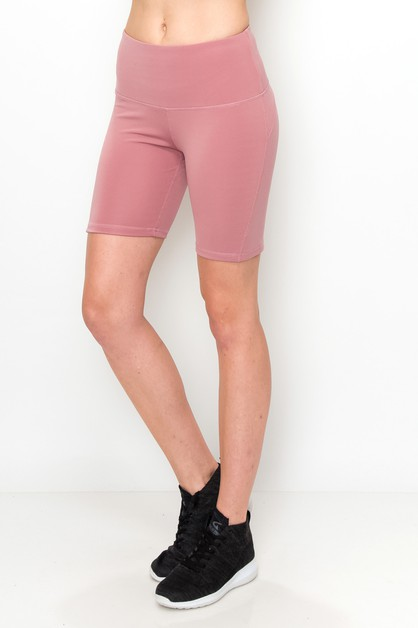 Solid yoga shorts  - orangeshine.com