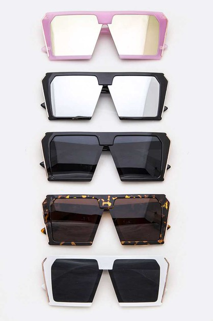 Iconic Square Oversize Sunglasses Se - orangeshine.com
