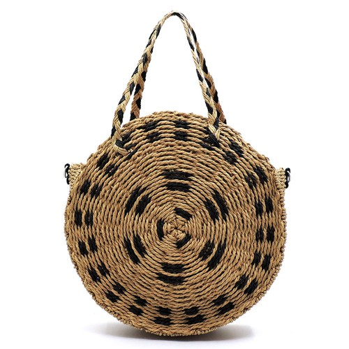 Fashion Straw Round Satchel - orangeshine.com