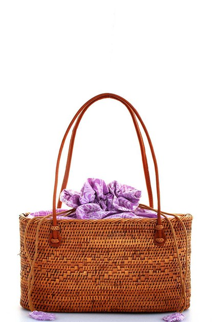 HAND MADE NATURAL WOVEN TOTE BAG - orangeshine.com