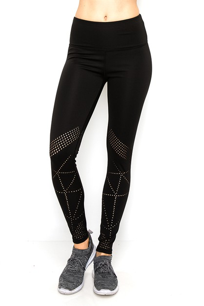 Laser cut yoga legging - orangeshine.com