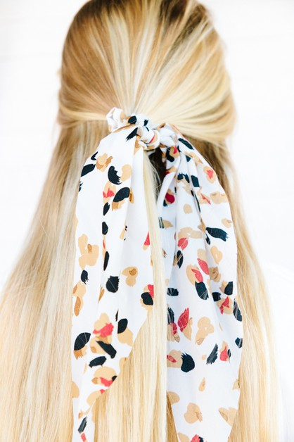 Mixed Pattern Summer Scrunchie Scarv - orangeshine.com