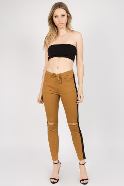 TWILL JOGGER WITH SIDE STRIPE - orangeshine.com