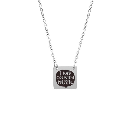 I LOVE COUNTRY MUSIC NECKLACE - orangeshine.com